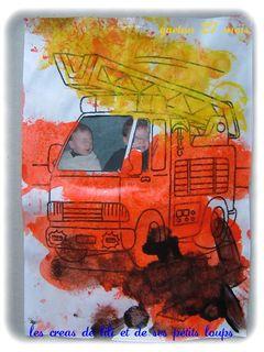 Gaetan conduit son camion de pompier