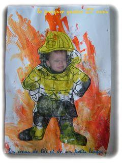 le pompier gaetan  devant son feu