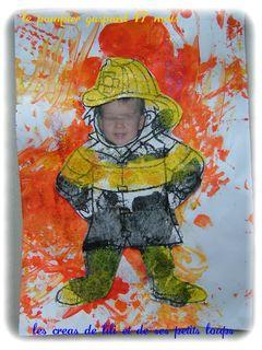 le pompier gaspard  devant son feu