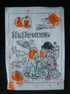 Coloriage halloween gaetan