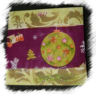 Carte de vœux pour  daphné