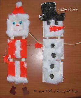 Atelier bonhomme de neige et pere noel de gaetan