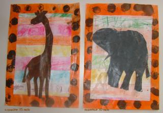 Notre tableau aux couleurs de l'Afrique