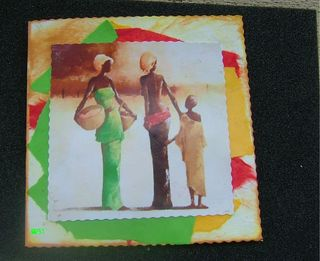 Carte  3 personnages africains