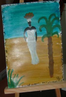 Carte peinte main Afrique