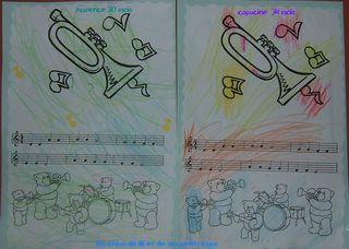 Coloriage fête musique