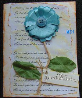 Carte anniversaire pour  petite fleur