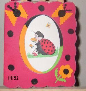Carte 3 d coccinelle
