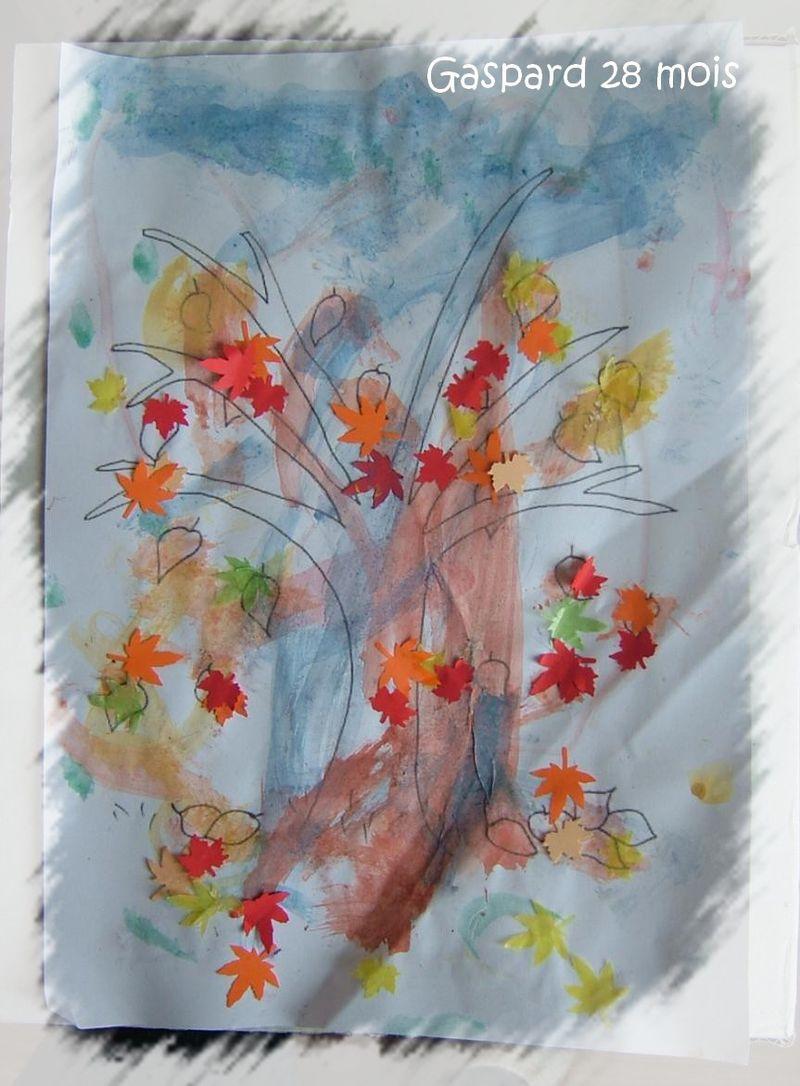 L'arbre d'automne de gaspard