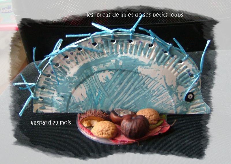 Herisson bleu de gaspard