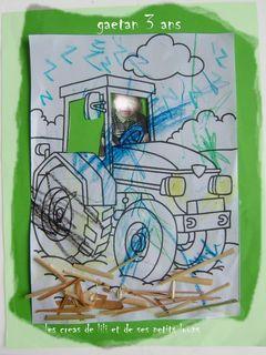 Gaetan conduit son tracteur