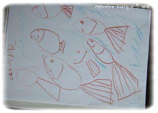 Les 1ers poissons dessines par capucine