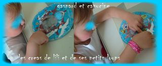 Gaspard et capucince font la deco du ptit mousaillon