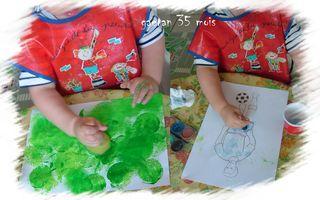 Gaetan peind son footballeur