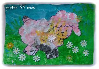Mouton de gaetan ds le pré