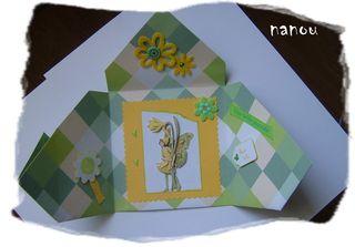 Carte ouverte  de nanou pour mon anniv 2010