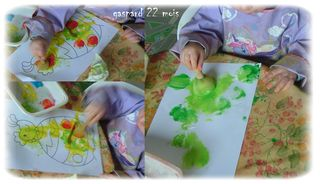Gaspard peind le coq sur l'oeuf