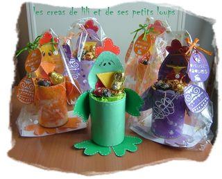 Demoiselles cocotte emballes et la demoiselle cocotte verte