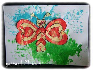 Papillon coeur de gaspard