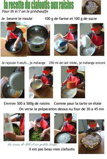 La recette du clafoutis aux raisins