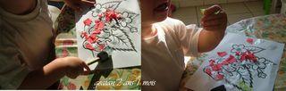Gaetan collage  fraises et ses fleurs
