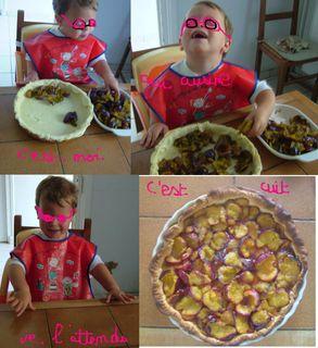 Je fais une tarte aux prunes