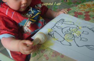 Chat peint par gaspard