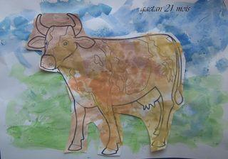 La vache ds le pré de Gaétan