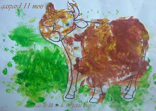 La vache dans le pré de gaspard