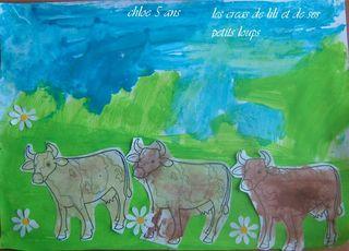 Les vaches dans le pré de chloé