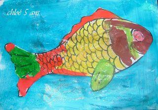 Poisson peint de chloé