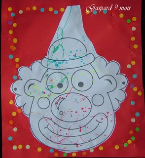 Le clown colorie par gaspard
