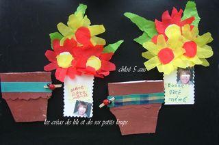 Carte qui va ds le pot de fleur réalisé par chloé