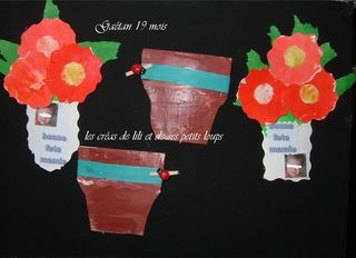 Pot et fleurs separes