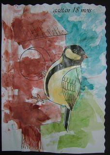 Mesange peinture  gaetan