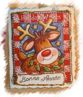 Carte vœux pour Carine
