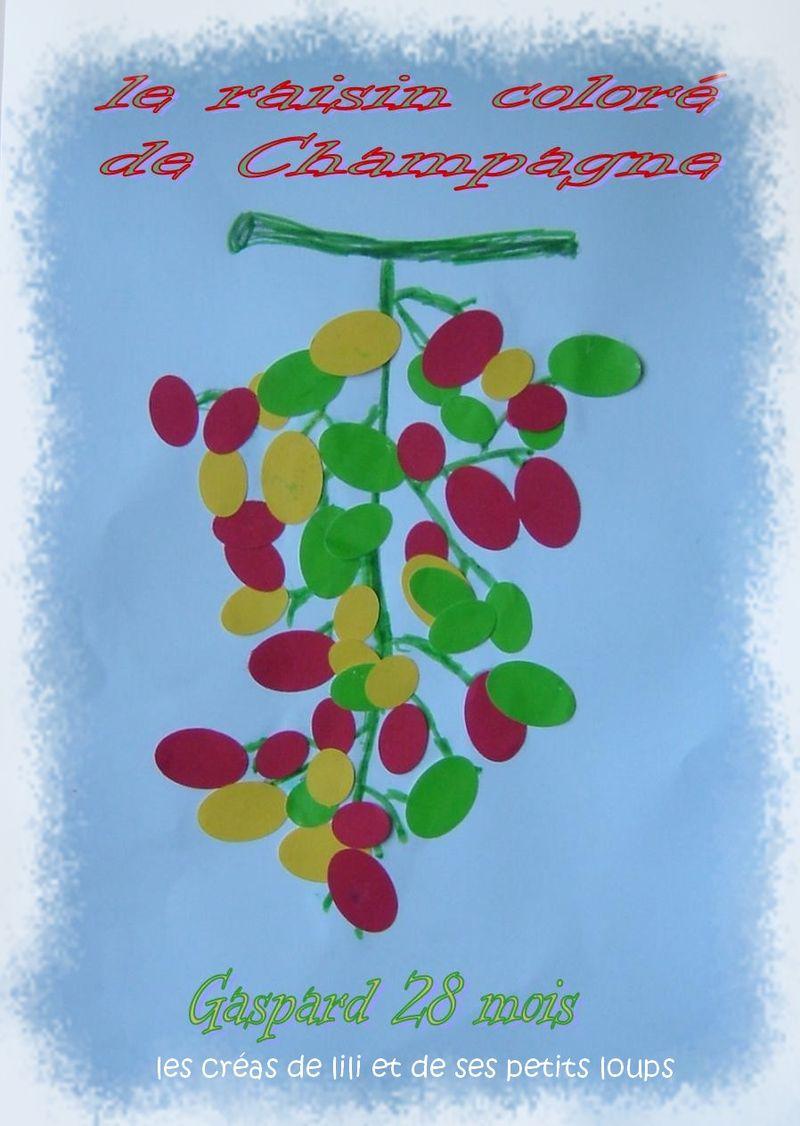 Le raisin colore de champagne