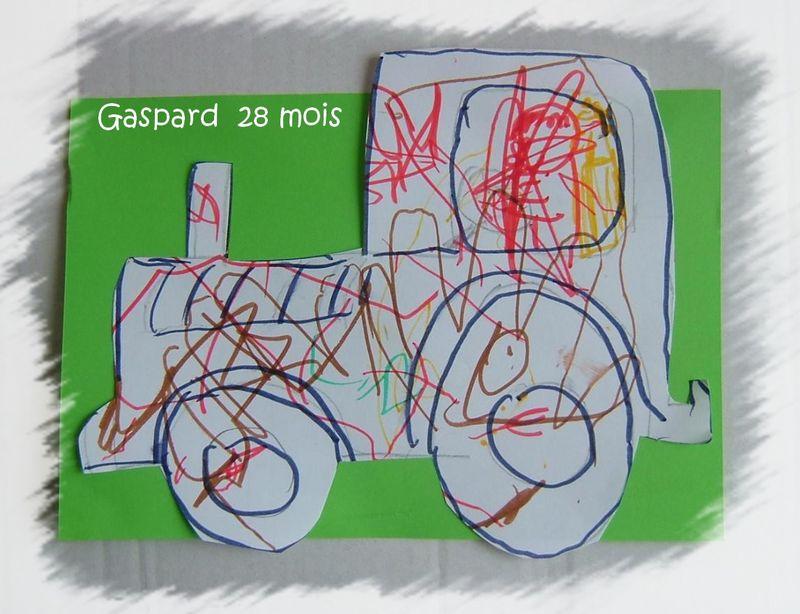Tracteurfait main pour gaspard