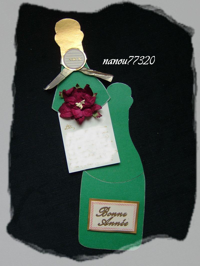 La bouteille de voeux debouche de nanou