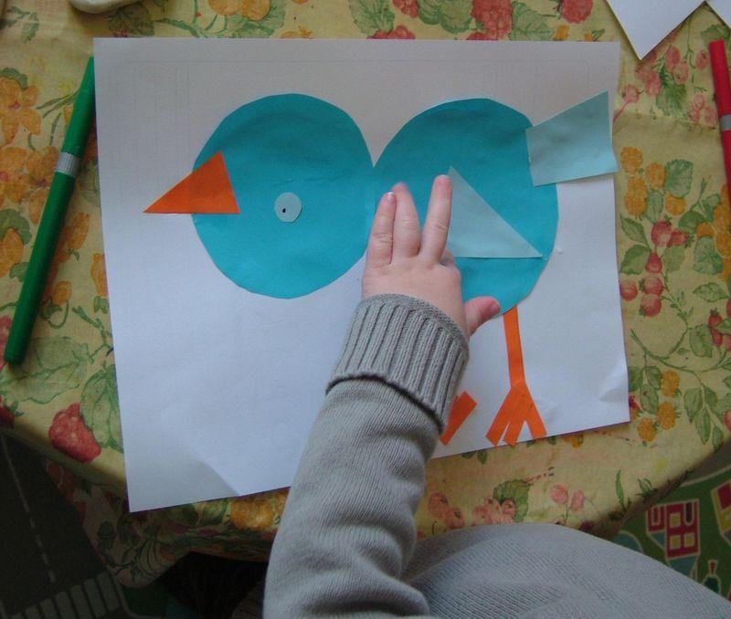 Oiseau collage gaspard