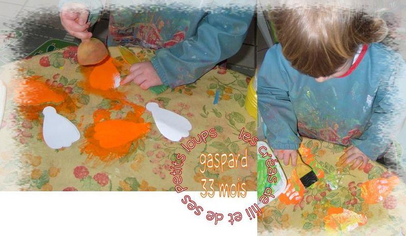 Gaspard peind  sa fleur eventail