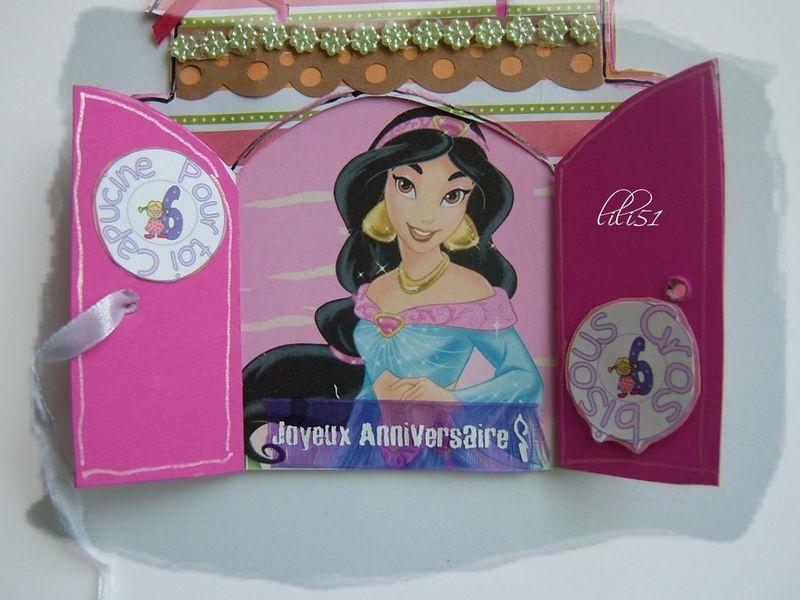 Carte chateau pour princesse capucine
