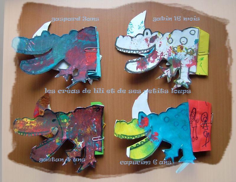 Les crocodiles  accordeon pliés