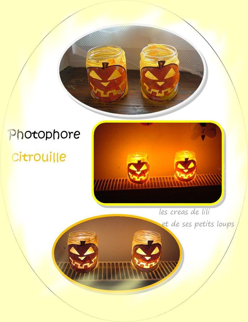 Photophore citrouille