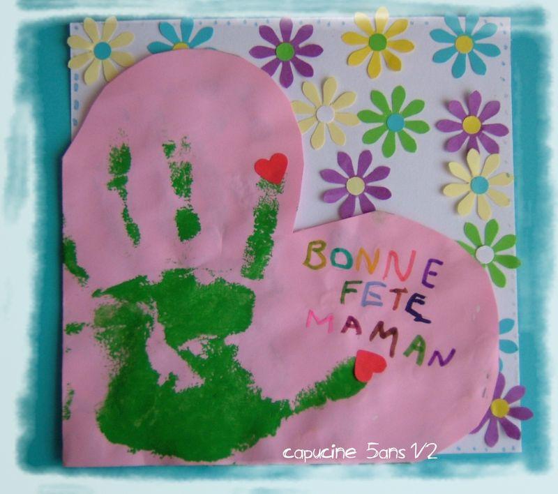 Carte coeur isa capucine