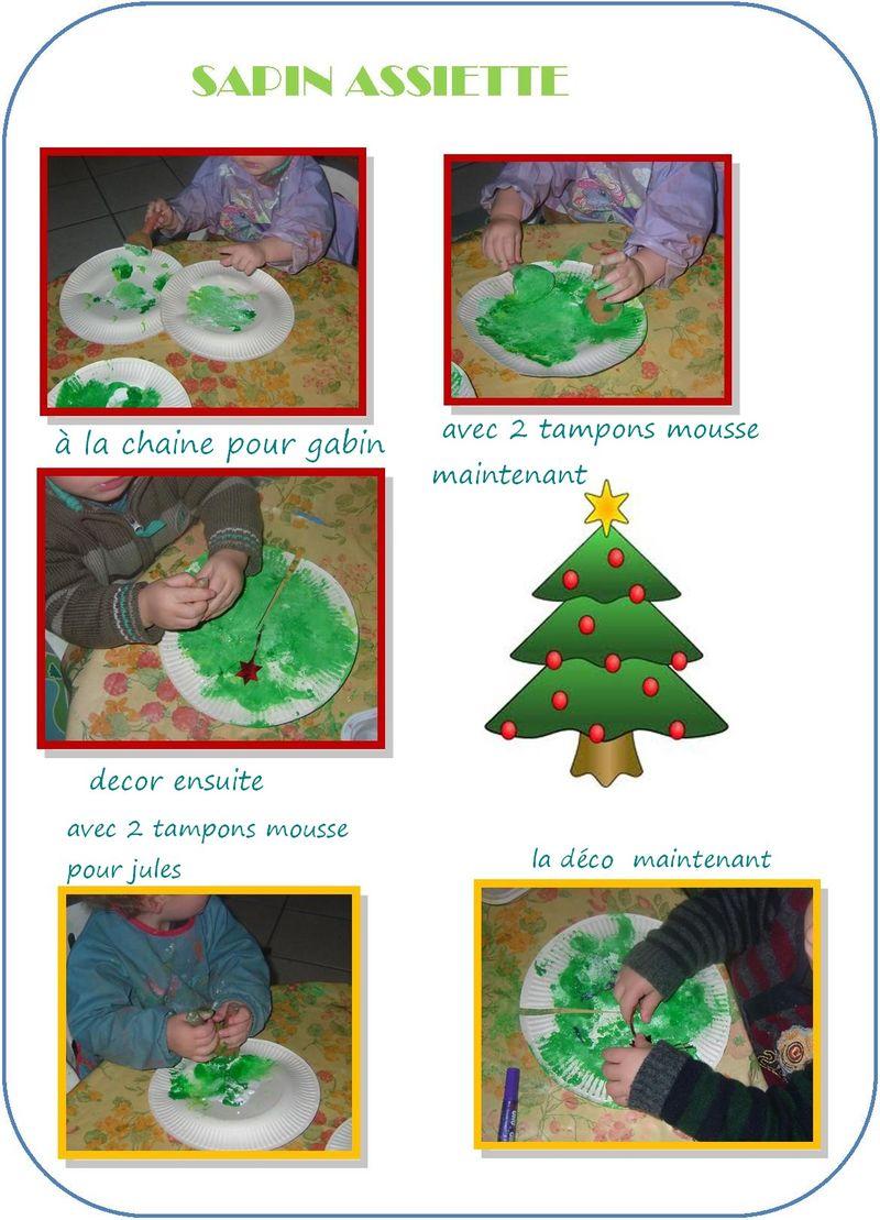 Les sapin avec assiettes ateier isa dec 2011