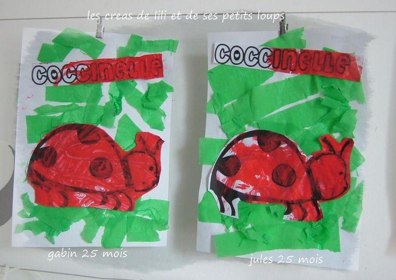 Les coccinelles coloriage gabin & jules