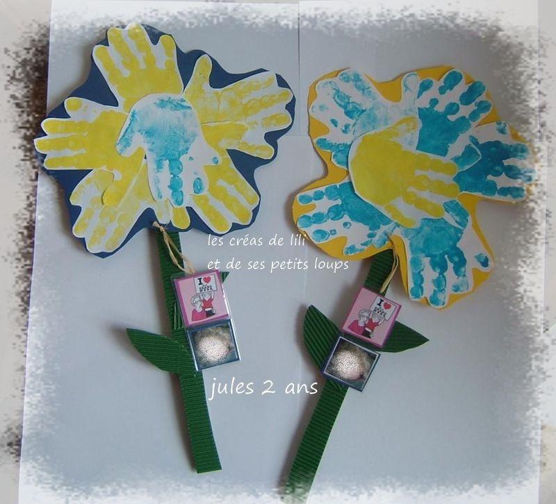 Copie de fleur main pour les mamies de gabin