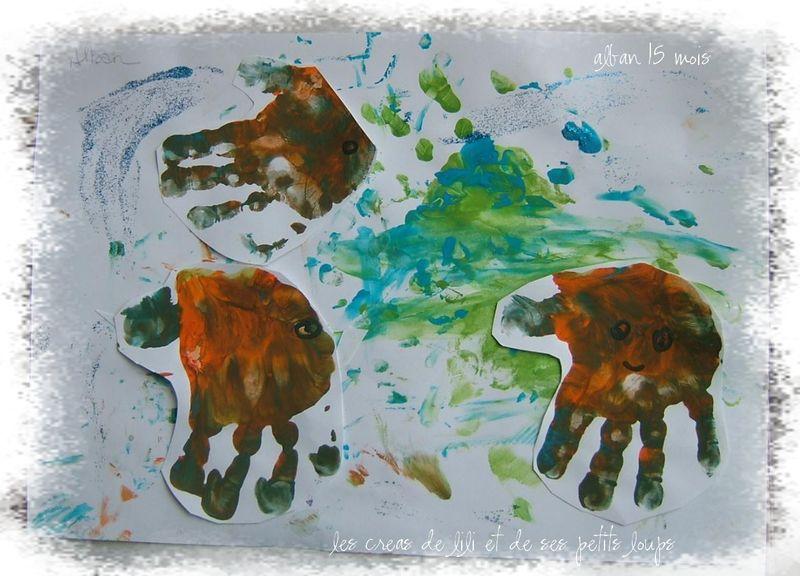 La pieuvre main et les poissons mains d'alban