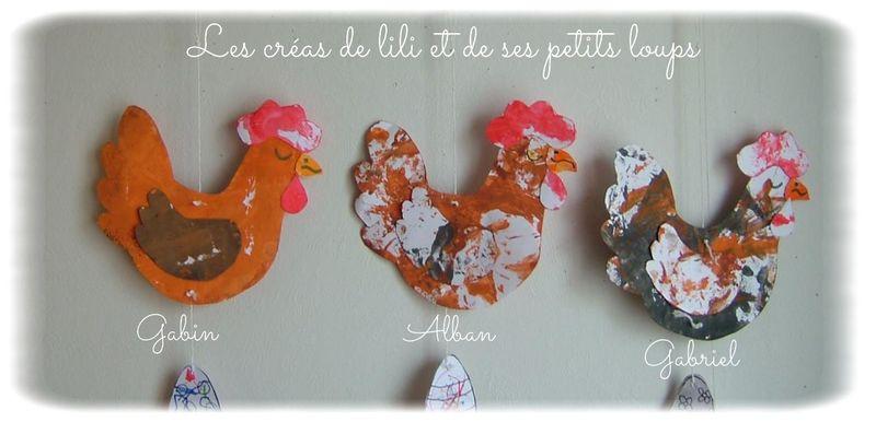 Les 3 poules vers droite